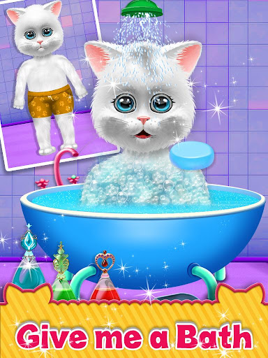 Cute Kitty Cat Care - Pet Daycare Activities Game android2mod screenshots 2