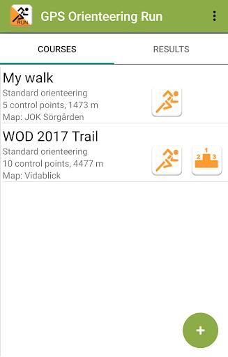 gps orienteering run screenshot 1