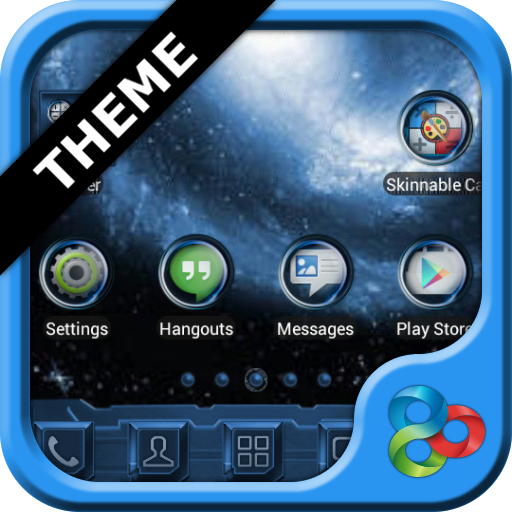Blue Galaxy GO Launcher Theme For PC Windows (7, 8, 10 and 10x) & Mac Computer