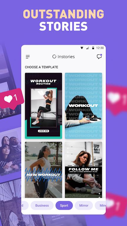 Instories: insta story collage maker & edit video  poster 0