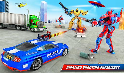 US Police Car Real Robot Transform: Robot Car Game android2mod screenshots 19