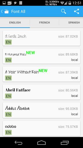 iFont(Expert of Fonts) 5.9.8.8 Screenshots 5