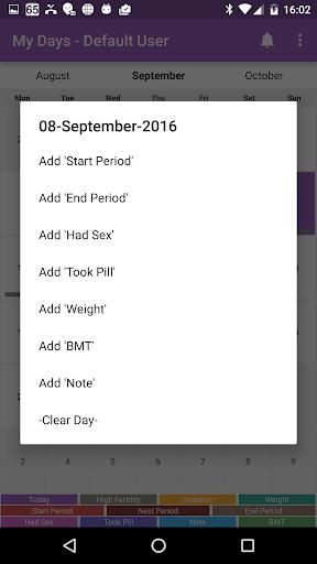 My Days - Ovulation Calendar & Period Tracker ™  screenshots 2