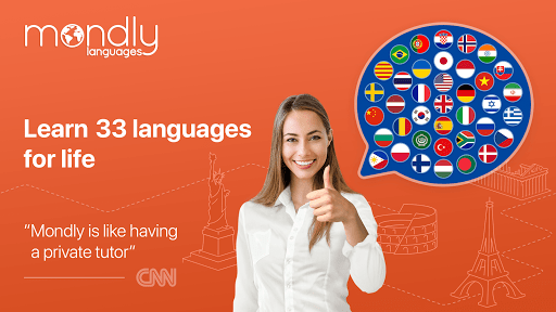 Learn 33 Languages Free - Mondly 7.10.0 Screenshots 1