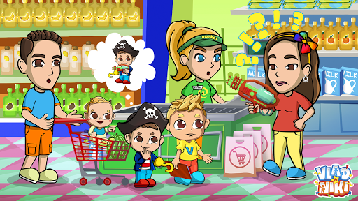Vlad & Niki Supermarket game for Kids  screenshots 7