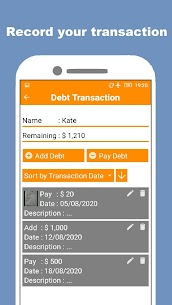 Debt Book and Manager – PRO v1.6 [Paid] 3