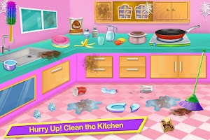 Messy Girl Home Cleaning Game