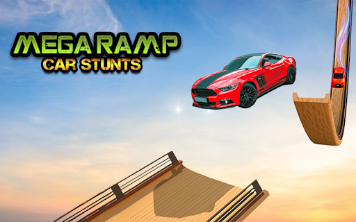 Mega Stunt Car Race Game - Free Games 2020 3.5 screenshots 8