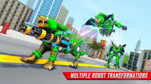 Lion Robot Car Transforming Games: Robot Shooting 1.8 Screenshots 16