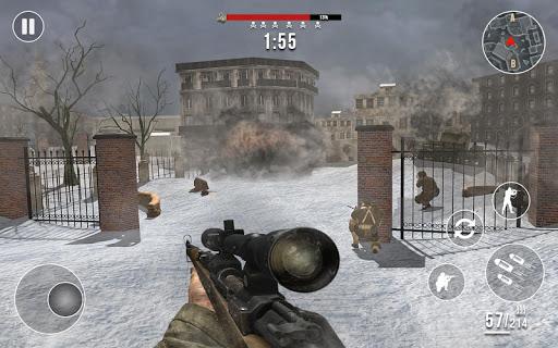 World War 2 Winter Heroes - Free Shooting Games 1.2.2 screenshots 5