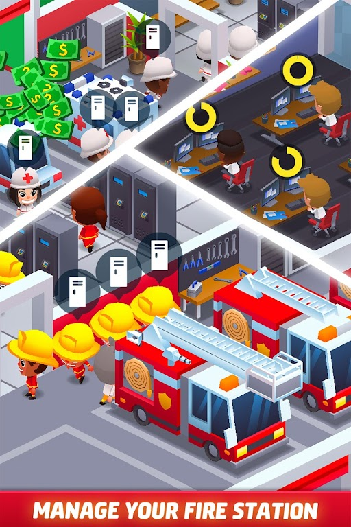 Idle Firefighter Tycoon - Fire Emergency Manager  poster 1