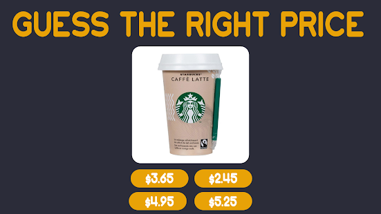 Guess the Right Price - Quiz Game Price 0.1 Screenshots 1