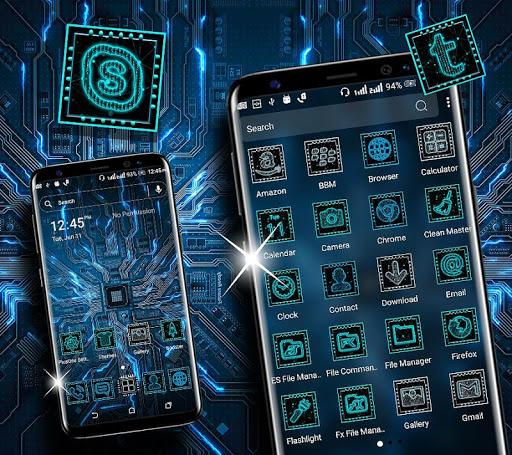 hi-tech circuit launcher theme screenshot 2