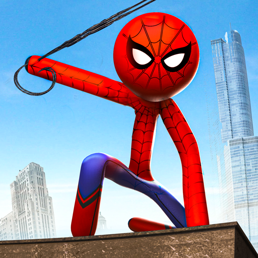 Grand Stickman Rope Hero Crime City: Stickman Game