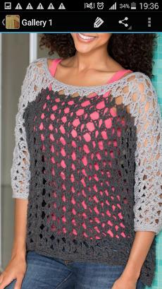 かぎ針編みのセーターのおすすめ画像3