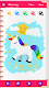 screenshot of Unicorn Diary (with lock - fingerprint, password)
