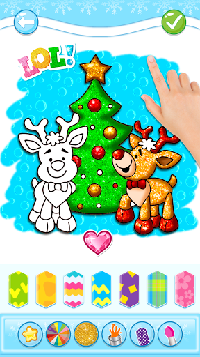 Christmas Coloring Game - Learn Colors  screenshots 2