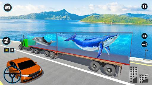 Sea Animals Transport Truck Driving Games  screenshots 6