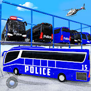Multi Level Police Bus Parking : Car Driving Sim