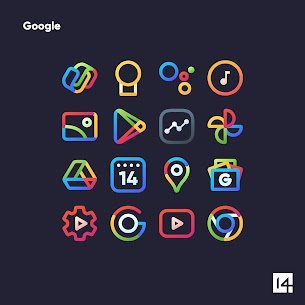 Aline Icon Pack Pro Apk- linear gradient icons (Patched) 6