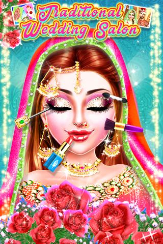 Traditional Wedding Salon - Makeup & Dress up Game  screenshots 1