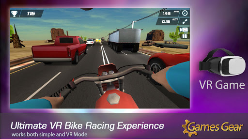 VR Bike Racing Game - vr bike ride 1.3.5 screenshots 1