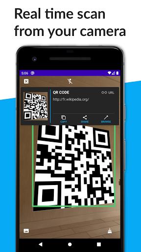 CamQR (Barcode, Datamatrix, QR, ..) 1.2.1 screenshots 1