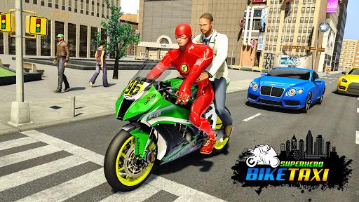 Superhero Bike Taxi Simulator - Bike Driving Games 1.1 screenshots 1