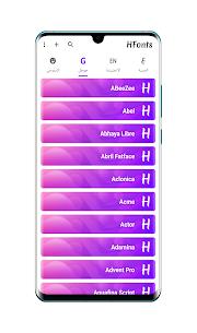خطوط و ايموجي هواوي و هونر HFonts 2