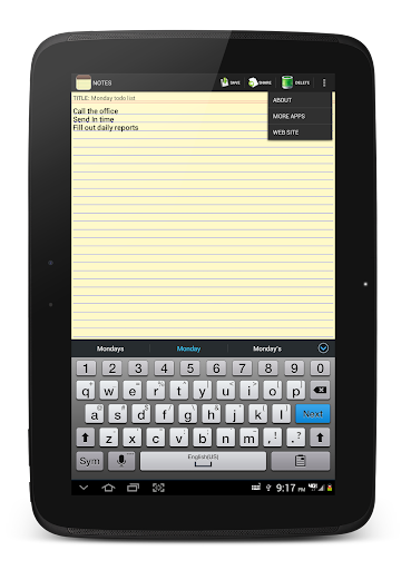 NOTES 1.27 Screenshots 12