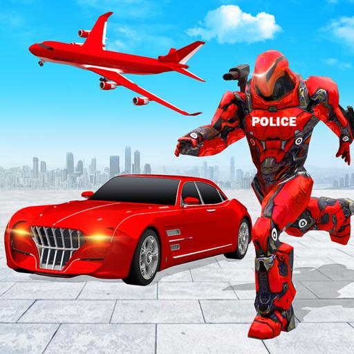 Flying Police Car Robot Hero: Robot Games