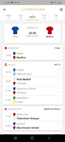 LiveSoccer: football live scores in real-timeのおすすめ画像1