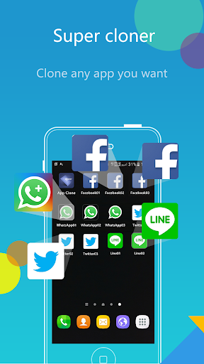 app cloner - clone app & 2nd multiple accounts app screenshot 1