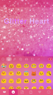 Glitter Heart Emoji Keyboard 💖💜🎀 Screenshot