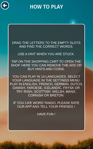 Word Tango :  a fun new word puzzle game  screenshots 11