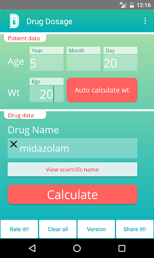 Drug Dosage Calculations (Demo) 4.1.4 demo Screenshots 1