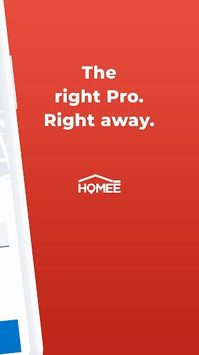 HOMEE: 24/7 Handyman, Plumber, Electrician & HVAC 6.0.1 Screenshots 2
