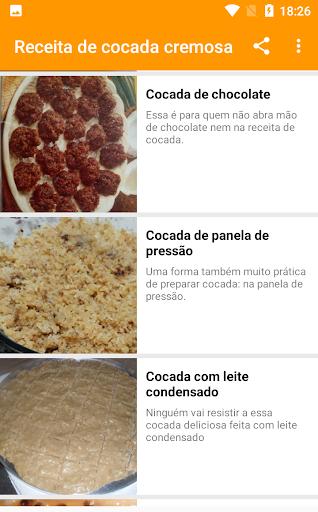 receita de cocada cremosa 1.0.5 screenshots 4