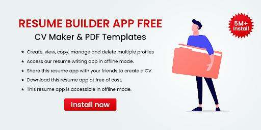 Resume Builder App Free CV Maker & PDF Templates 7.5 Screenshots 1
