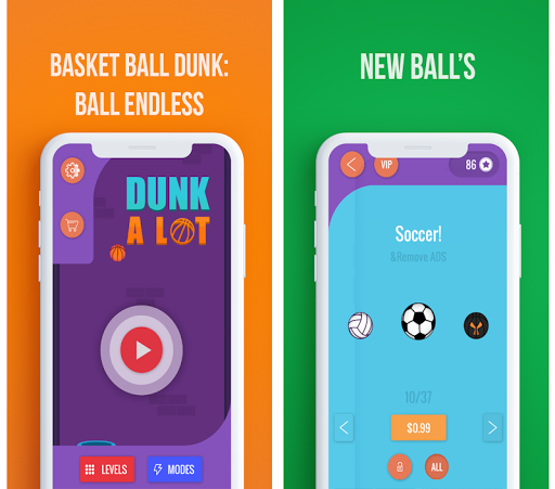 Basket Ball Dunk A Lot 2: Endless Game 1.0 screenshots 1