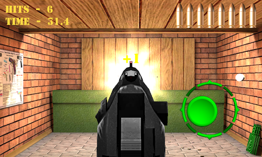Pistol shooting at the target.  Weapon simulator 4.5 screenshots 2