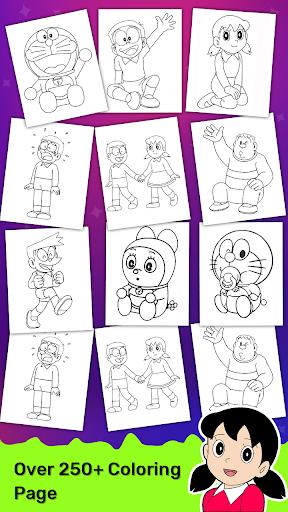 Doraeman Cartoon Coloring: Colour Painting Game 3.3.2 screenshots 21