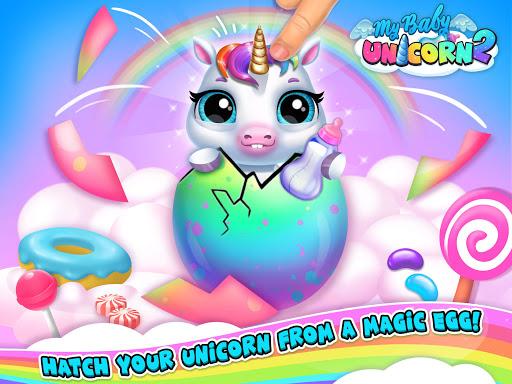 My Baby Unicorn 2 - New Virtual Pony Pet android2mod screenshots 13