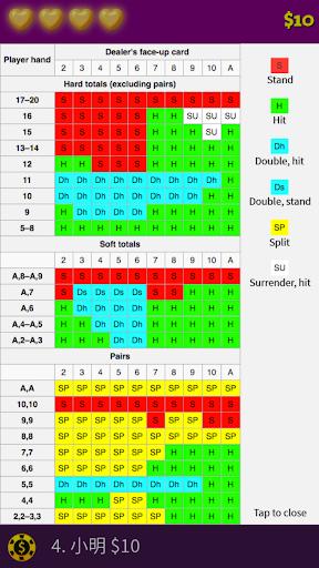 blackjack basic strategy training screenshot 3