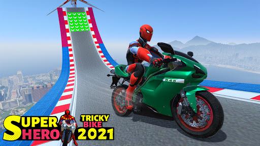 Superhero Tricky bike race (kids games) android2mod screenshots 1