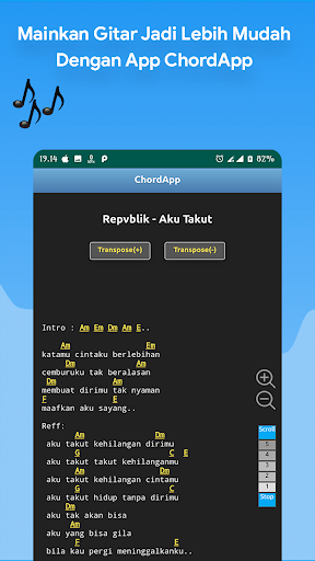 chordapp - kunci gitar lirik offline, dan tuner screenshot 2