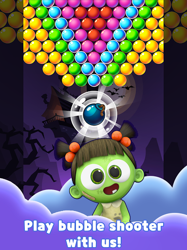 SPOOKIZ PANG: Bubble Shooting apkpoly screenshots 14