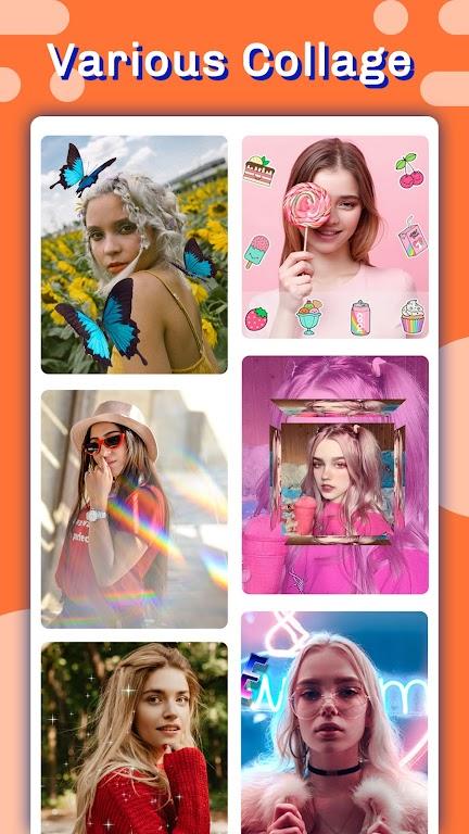 Candy selfie -beauty camera & photo editor pro  poster 5