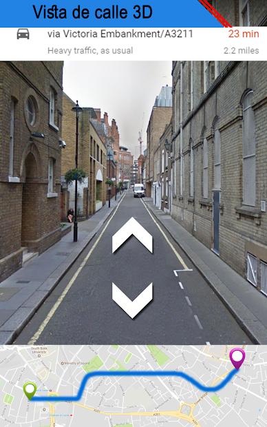 Captura 6 de vivir tierra calle ver mapa & ruta navegación para android