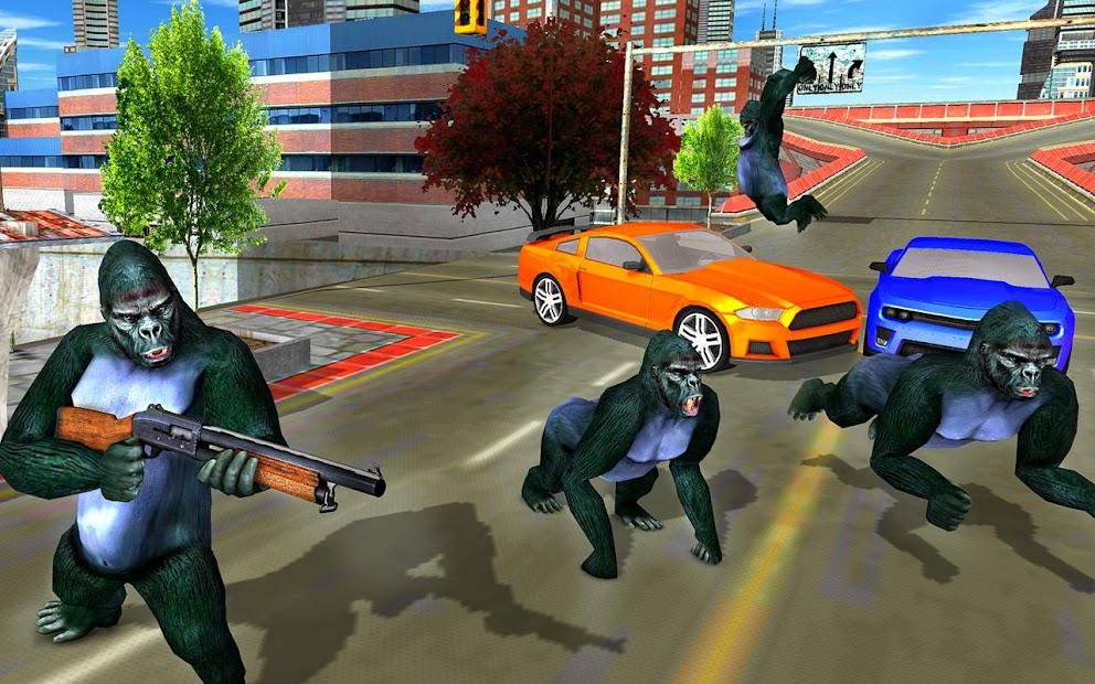 Screenshot 12 de Ataque de monos enojados guerra de supervivencia para android